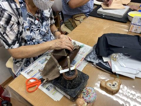 バッグ内袋 レザークラフト教室 革工芸教室