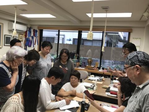 フィギュアカービング講習会図案写し レザークラフト教室 革工芸教室