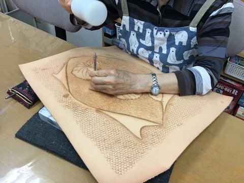 フィギャアカービング レザークラフト教室 革工芸教室