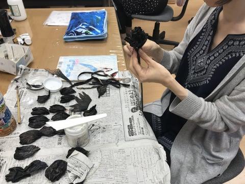 革の花 レザークラフ 教室 革工芸教室