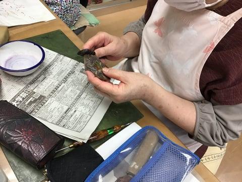 革のアクセサリー レザークラフト教室 革工芸教室