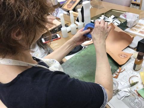 猫 レザークラフト教室 革工芸教室