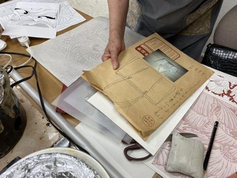 図案決め レザークラフト教室 革工芸教室