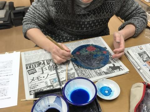 時計染色 レザークラフト教室 革工芸教室