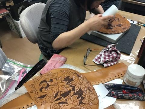 バッグリメイク レザークラフト教室 革工芸教室