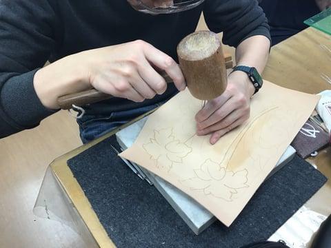 セカンドバッグ レザークラフト教室 革工芸教室
