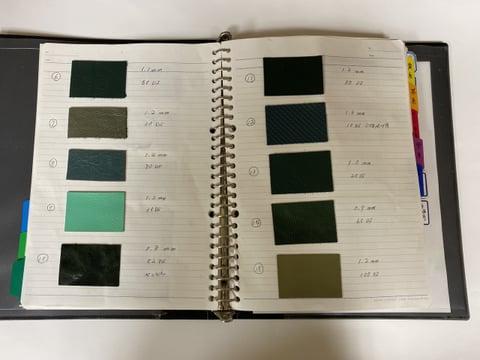 革台帳−2 レザークラフト教室 革工芸教室