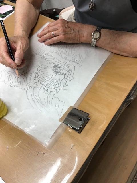 図案 レザークラフト教室 革工芸教室
