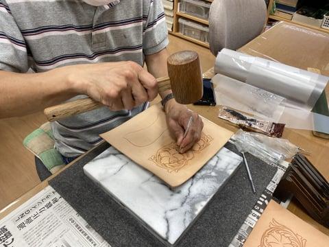 ロングウォレット レザークラフト教室 革工芸教室
