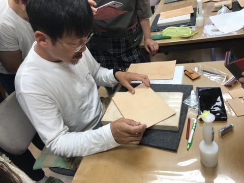 フィギュアカービング講習会 カット レザークラフト教室 革工芸教室