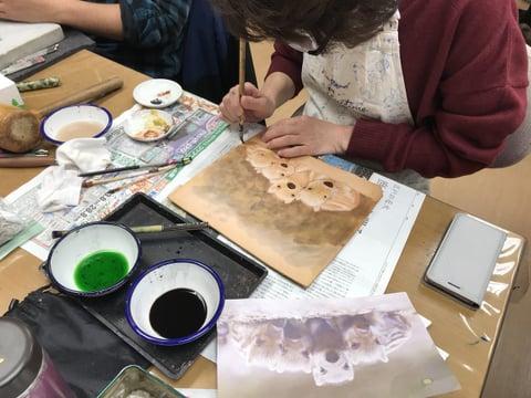 干支の絵 レザークラフト教室 革工芸教室