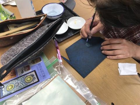 スマホケース レザークラフト 教室 革工芸教室