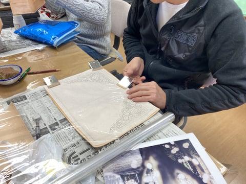 ノートブック レザークラフト教室 革工芸教室