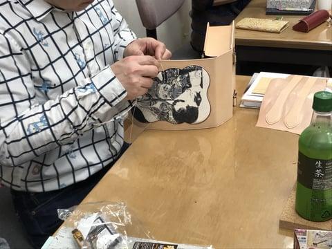 インレイ レザークラフト教室 革工芸教室