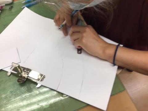 型紙起こし レザークラフト教室 革工芸教室
