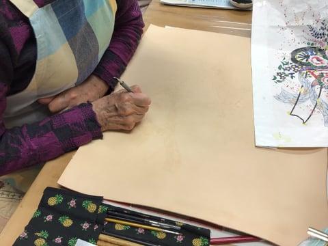 金線描き レザークラフト教室 革工芸教室