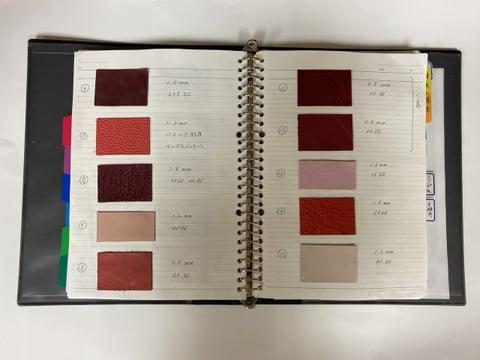 革台帳−3 レザークラフト教室 革工芸教室