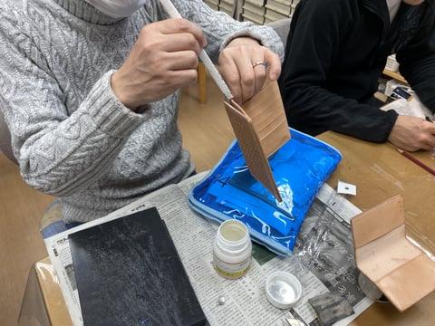 コバ塗り レザークラフト教室 革工芸教室