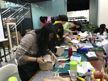 北京講習造形 レザークラフト教室 革工芸教室