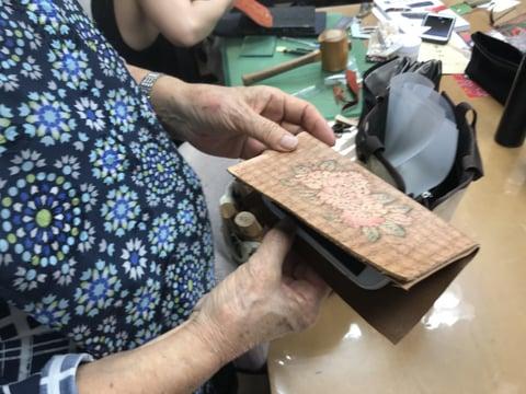 スマホカバー レザークラフト教室 革工芸教室