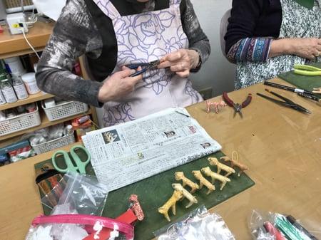レザー干支4 レザークラフト教室 革工芸教室