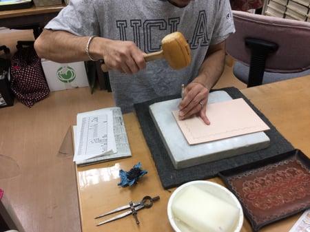 初等科課題 レザークラフト教室 革工芸教室