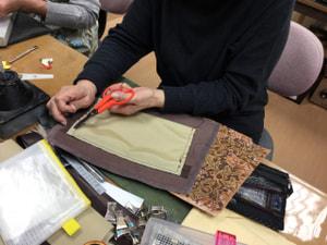 レザークラフト バッグ製作