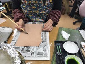 レザークラフト教室 革工芸教室 ろうけつ染教室