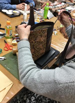 レザークラフト教室 袋物仕立