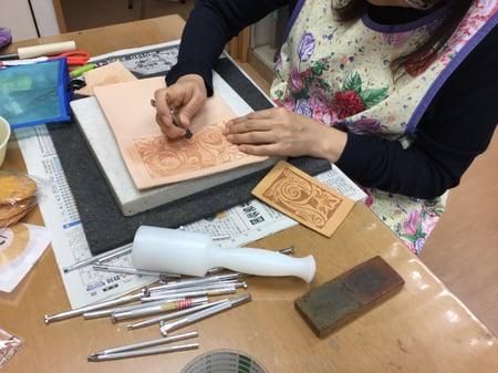 レザーカービング レザークラフト教室 革工芸教室