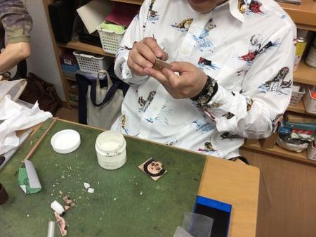 スカルキーカバー レザークラフト教室 革工芸教室