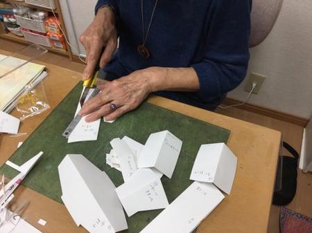型紙 レザークラフト教室 革工芸教室