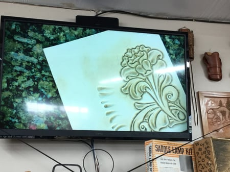 彫り方説明 レザークラフト教室 革工芸教室