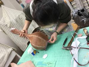 レザークラフト教室 革工芸教室 立体造形