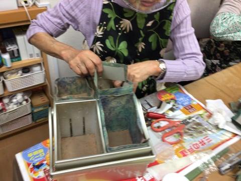 小物入れ貼り込み レザークラフト教室 革工芸教室
