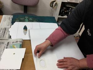 レザークラフト教室 革工芸教室 ティッシュボックス
