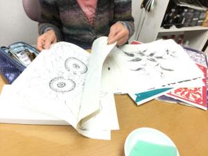 レザークラフト教室 革工芸教室 図案