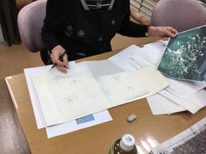 レザークラフト教室 革工芸教室 図案制作