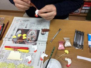 レザークラフト教室 革工芸教室 干支ストラップ