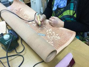 レザークラフト教室 革工芸教室 バーニング