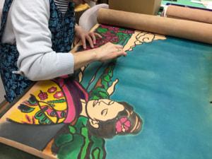 レザークラフト教室 革工芸教室 革絵