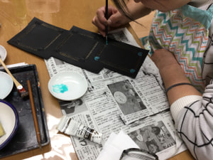 レザークラフト教室 革工芸教室 写真立て