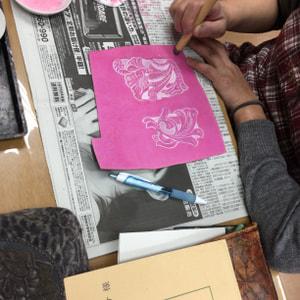 梨地染色,レザークラフト教室,革工芸教室