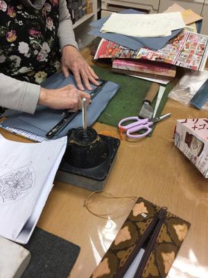 袋物仕立 レザークラフト教室 革工芸教室
