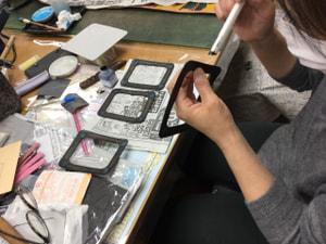 フォトフレーム レザークラフト教室 革工芸教室