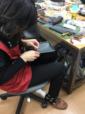 手縫いバッグ レザークラフト教室 革工芸教室