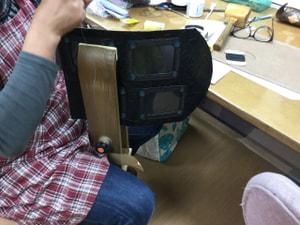 手縫いフォトフレーム レザークラフト教室 革工芸教室