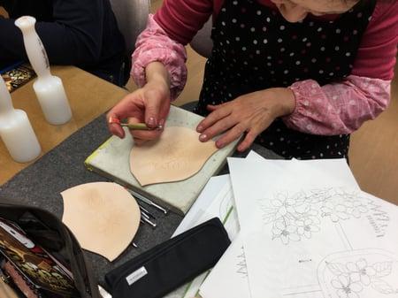 ウォールポケット レザークラフト教室 革工芸教室