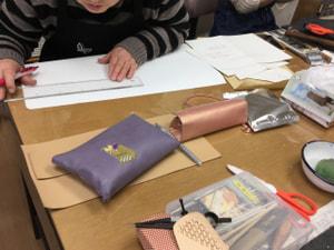 バッグ型紙 レザークラフト教室 革工芸教室