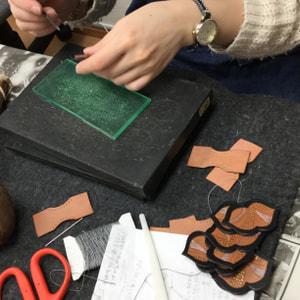 手縫いベルト レザークラフト教室 革工芸教室